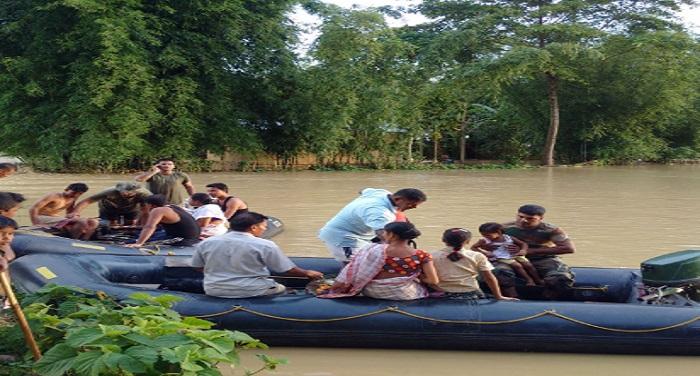 Assam Flood बिहार में बाढ़ से 31 लाख लोग प्रभावित, अब तक 61 लोगों की मौत