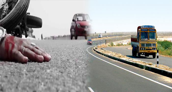 road accident सड़क हादसे में दो युवकों की मौत, नशे में होने की आशंका