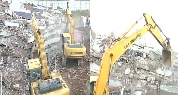building हैदराबाद में इमारत गिरने से 2 की मौत 10 लोगों के दबे होने की आशंका