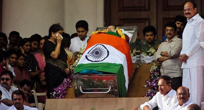 jayalalitha death तमिलनाडु में शोक की लहर...आज शाम मरीना बीच पर होगा अंतिम संस्कार
