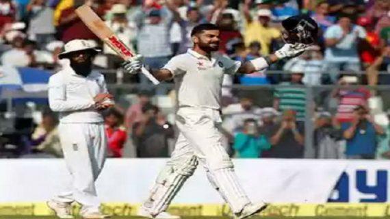 मुंबई टेस्ट में भारत ने 631 रन बनाकर पाई 231 रनों की बढ़त