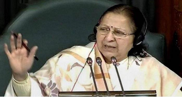 sumitra mahajan राज्यसभा के बाद लोकसभा की कार्यवाही अनिश्चितकाल के लिए स्थगित