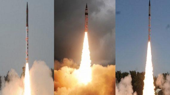 अग्नि-5 के बाद 4000 रेंज की अग्नि-4 मिसाइल का सफल परीक्षण