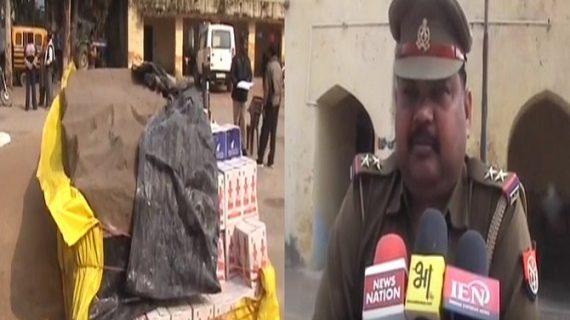जिले में पुलिस ने पकड़ी शराब की खेप