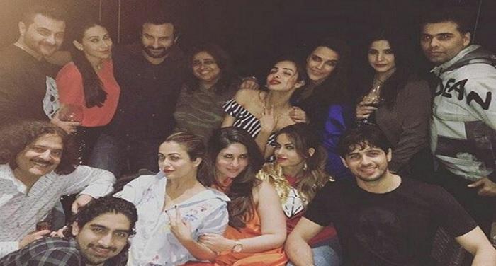 karan johar गैंग्स ऑफ करन जौहर की पार्टी की तस्वीरें हुई वायरल...सैफ के साथ आईं करीना