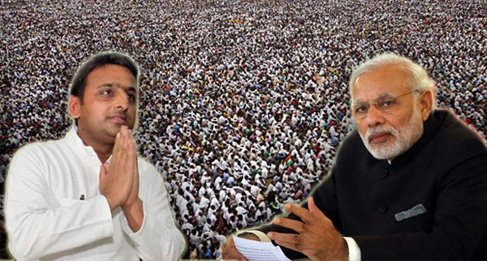 modi akhesh 1 पीएम साहब चुनाव के बाद पेश करें बजट- सीएम अखिलेश यादव