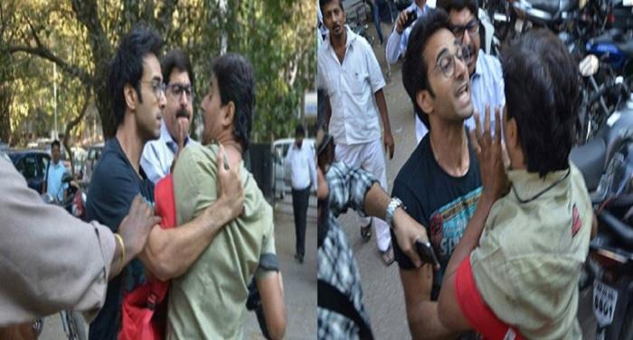 मीडिया फोटोग्राफरों से पुलकित ने की हाथापाई