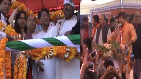 सिद्धार्थनगर में चुनाव प्रचार के लिए आए नेताओं ने लोगोंं से मांगा समर्थन