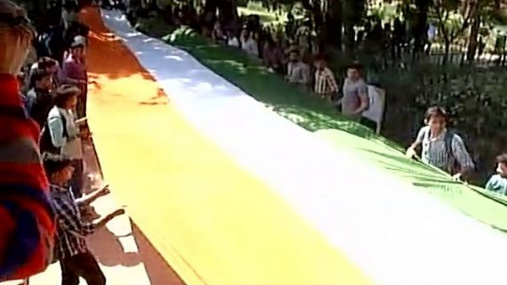 रामजस कॉलेज विवादः एबीवीपी ने नॉर्थ कैंपस में निकाला तिरंगा मार्च