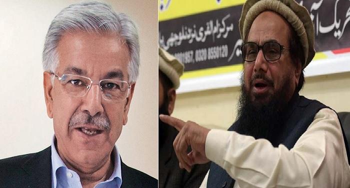 Hafiz saeed पाकिस्तानी रक्षा मंत्री का बयान, हाफिज सईद है पाकिस्तान के लिए खतरा