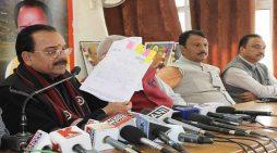 भट्ट ने लगाया कांग्रेस पर आचार सहिंता के उल्लंघन करने का मामला