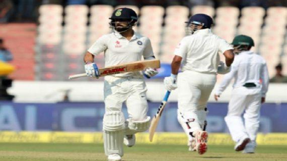 भारत vs बांग्लादेश : पहले दिन की पारी में भारत ने बनाए 356 रन