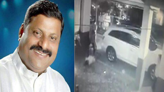 महाराष्ट्र कांग्रेस के नेता मनोज म्हात्रे की हत्या, घटना सीसीटीवी में कैद