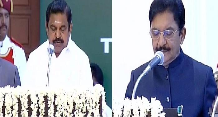 tamil 1 तमिलनाडु के नए मुख्यमंत्री के रुप में पलानीसामी ने किया शपथ ग्रहण