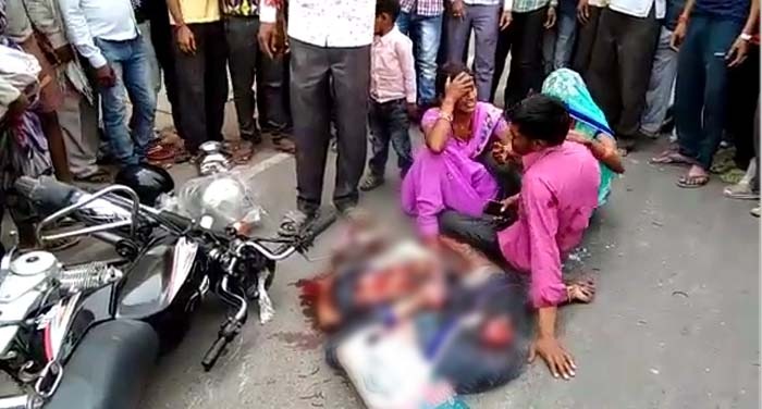 हमीरपुर में सड़क हादसे में वृद्धा की मौत