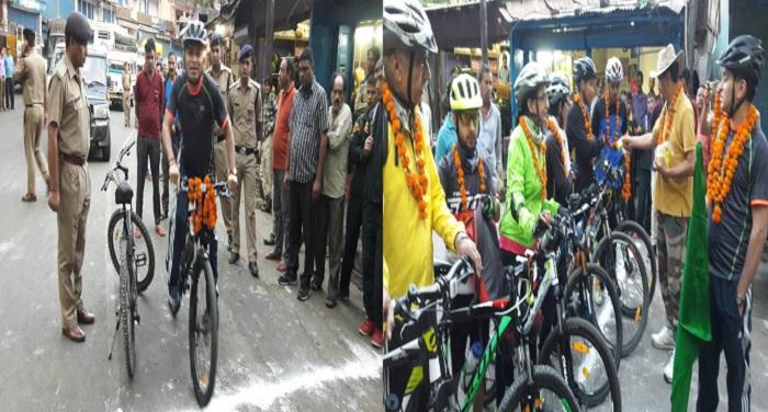 केदारनाथ यात्रा व पर्यटन को बढ़ावा देने के लिए निकाली गई साइकिल रैली