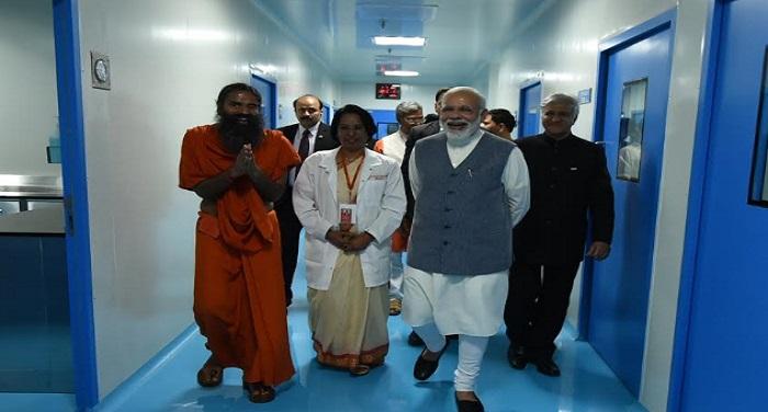 narendra modi8 पीएम मोदी ने किया पतंजलि रिसर्च सेंटर का उद्घाटन