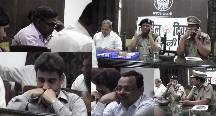 shamli 1 जनता की समस्याएं सुनने की बजाय सो रहे थे अधिकारी