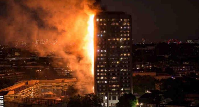 Kanpur Station 19 लंदन के बहुमंजिला टावर ब्लॉक में लगी भीषण आग
