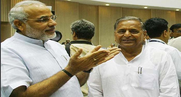 modi and mulayam singh राष्ट्रपति चुनाव को लेकर मुलायम का बड़ा दांव, कोविंद को बताया सबसे अच्छा प्रत्याशी