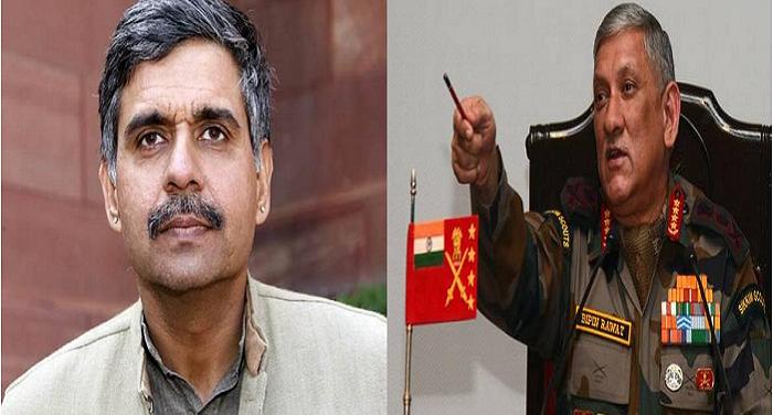 sena pramukh सेना प्रमुख को गुंडा कहने वाले संदीप दीक्षित ने मांगी माफी