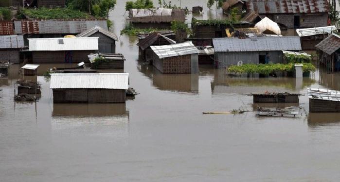 Massive, devastation, Assam, father, son, death, storm