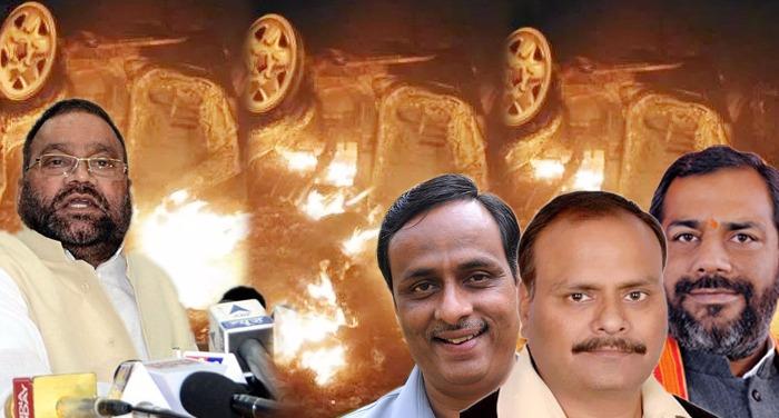 raibarali रायबरेली नरसंहार को लेकर स्वामी के विवादित बयान पर भाजपा में मची कलह