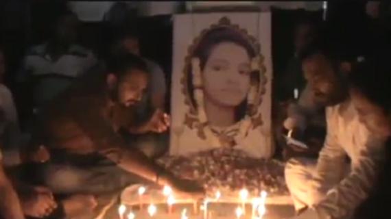 बलिया में रागिनी के हत्यारे का भगवा पोस्ट