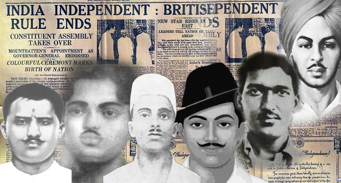collage 2 भारत की क्रांति के युवा चेहरे