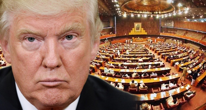 pakistan, parliament, condemns, donald trump, afghan, policy