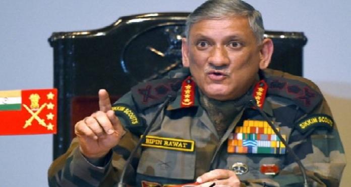 army chief, bipin rawat, doklam, chaina, standoff, pakistan, sikkim