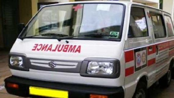 कार से टक्कर होने पर बीजेपी नेता ने रोकी एंबुलेंस, मरीज की मौत