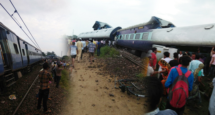 train accident, mujaffarnagar, people injured, police, up