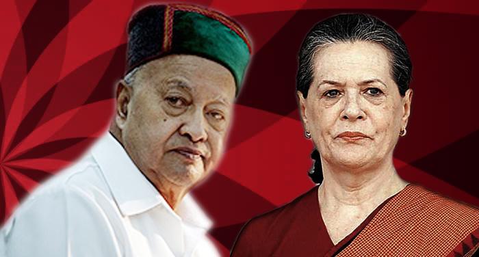 virbhadra singh and sonia gandhi सीएम वीरभद्र सिंह को मनाने में लगी कांग्रेस