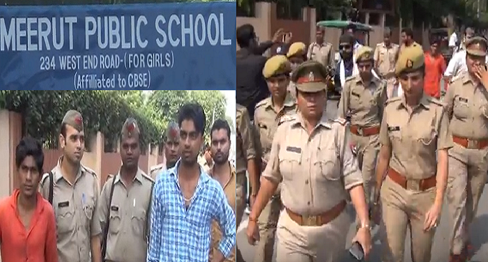 Police, launched, Antiromio, campaign, 3 Mjnuon, detained,meerut,girls school, walking search