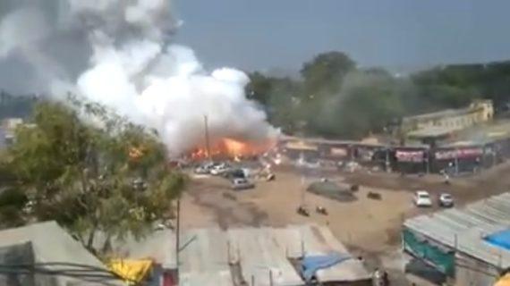 वीडियो वायरल: अमृतसर में पटाखा फैक्ट्री में लगी भीषण आग, दो लोगों के मरने की खबर