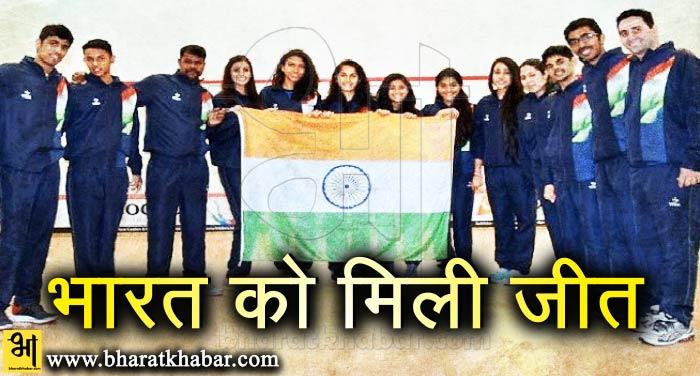 विश्व टीम स्क्वैश चैम्पियनशिप: भारत ने ऑस्ट्रिया को 3-0 से मात दी