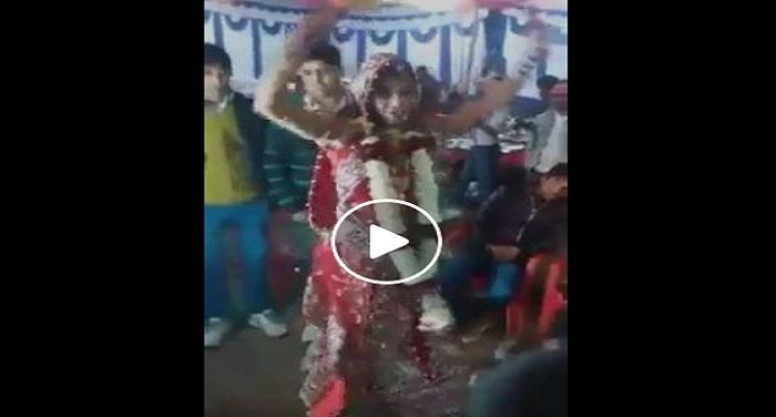 bride dance अपनी शादी में दुल्हन का स्टेज पर धमाकेदार डांस देखें वीडियो