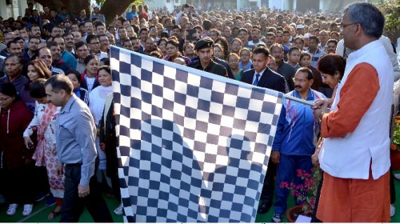 रन फॉर गुड गवर्नेन्स रेस को सीएम त्रिवेन्द्र सिंह रावत ने दिखाई झंडी