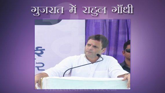 अमरेली में बीजेपी पर बरसे राहुल, कहा- गुजरात में कोई काम बिना भ्रष्टाचार के नहीं होता