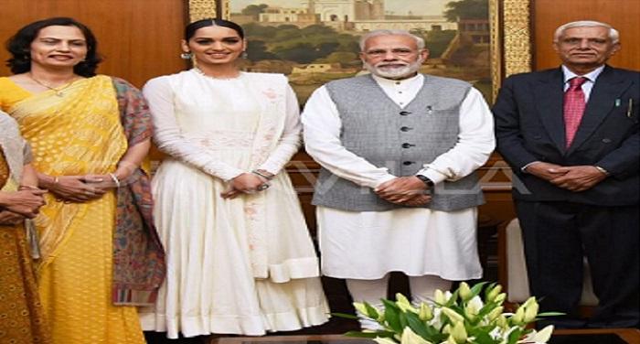 Manushi Chhillar meets Narendra Modi 1 पीएम मोदी ने कि मिस वर्ल्ड से मुलाकात, पीएम बोले देश की बेटी ने भारत का सर किया गर्व से ऊंचा