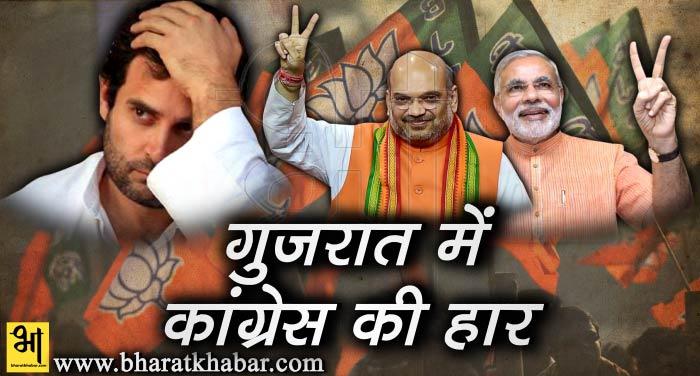 gujarat me congress ki har गुजरात का रण कांग्रेस को पड़ा भारी