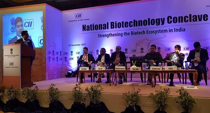 WhatsApp Image 2018 01 06 at 12.09.14 PM राजधानी दिल्ली के 'ली मेरिडियन' में किया गया राष्ट्रीय जैव प्रौद्योगिक सम्मेलन