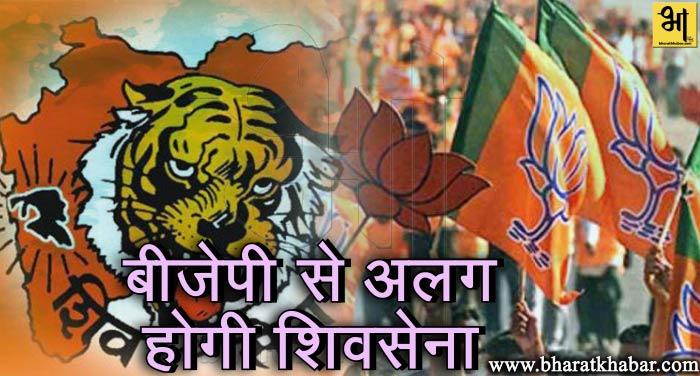 bjp shivsena शिवसेना ने किया बीजेपी से अलग होने का ऐलान, अकेले लड़ेगी 2019 का चुनाव