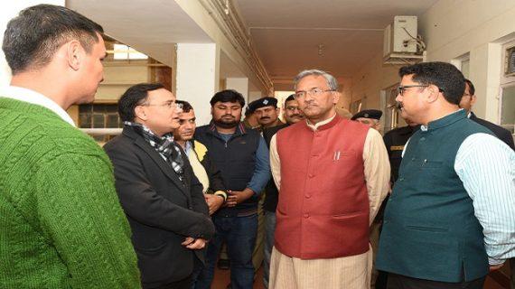 सीएम रावत ने व्यक्त किया अमित सिंह नेगी के पिता डॉ.बी.एस.नेगी के निधन पर गहरा दुःख