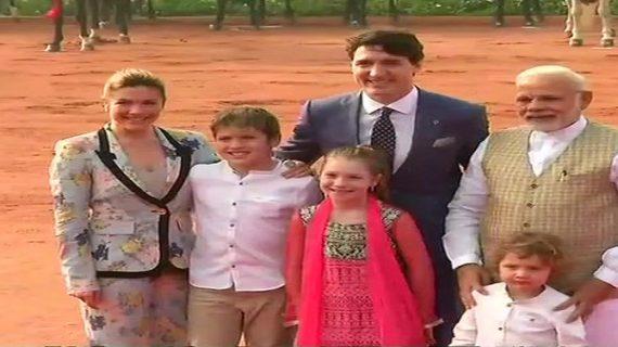 राष्ट्रपति भवन में ट्रूडो का औपचारिक स्वागत, पीएम से की मुलाकात
