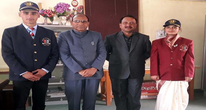 गणतंत्र दिवस की परेड में शामिल होकर लौटे कैडेट को किया सम्मानित