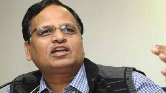 सत्येंद्र जैन के इस्तीफे की मांग को लेकर बीजेपी ने राजघाट पर दिया धरना