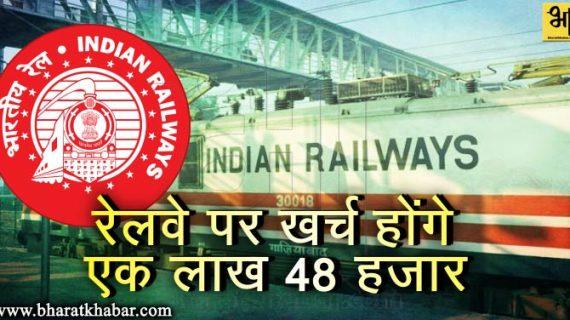 रेल बजट पेश, भारतीय रेलवे पर खर्च होंगे एक लाख 48 हजार रूपये