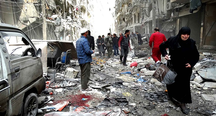 सीरिया के ईस्टर्न घोउटा में सेना ने दागे बम, 250 लोगों की मौत